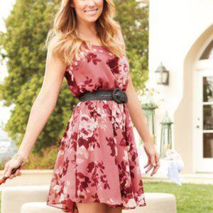 LC Lauren Conrad Floral Tie Waist Dress